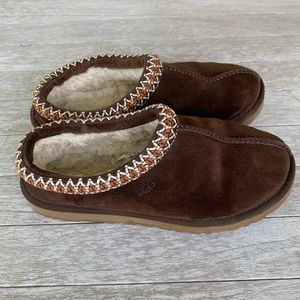 Ugg Tasnan Chocolate Brown Fur lined slippers